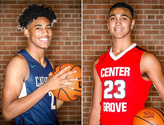 Armaan Franklin (left) and Trayce Jackson-Davis (right) are among in the running for a spot in the McDonald's All-American Game.