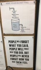 A sign outside Matt Johnson's Hinkle Fieldhouse basement office.
