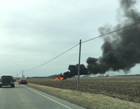 One person was believed to have died in the crash of this plane just south of Marion's airport on Thursday, Nov. 29, 2018.
