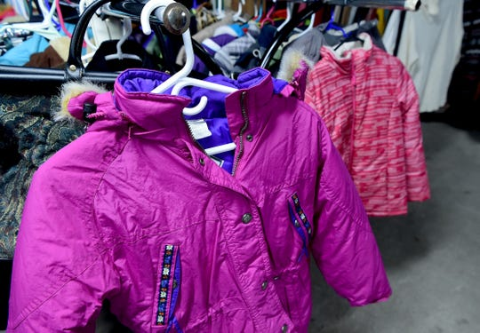 Donated coats for children at Catholic Charities of Tompkins/Tioga in Ithaca on Thursday, November 29, 2018.