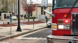 Jackson Police Department headquarters was evacuated Thursday morning after a fire set off sprinklers.