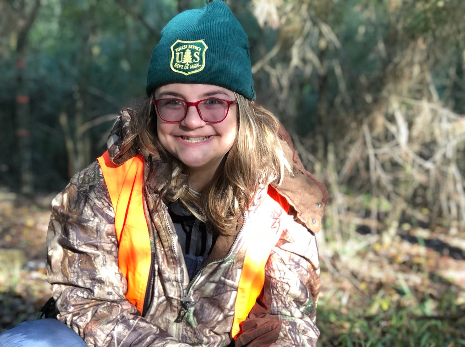 Halle Craven, 12, of Ovett, harvested this buck after having a doe blow at her followed by a flock of turkeys walking through. The young buck then suddenly appeared beside her blind.