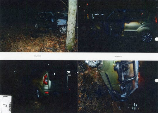 """Photos taken by the Knox County Sheriff's Office show the scene of a 2016 crash that killed 28-year-old Sarah Howe. Attorneys for Harlan Ferguson, who is charged with vehicular homicide in the case, said the photographs are of """"such poor quality that they provide very little (if any) information that is valuable to the defense."""""""
