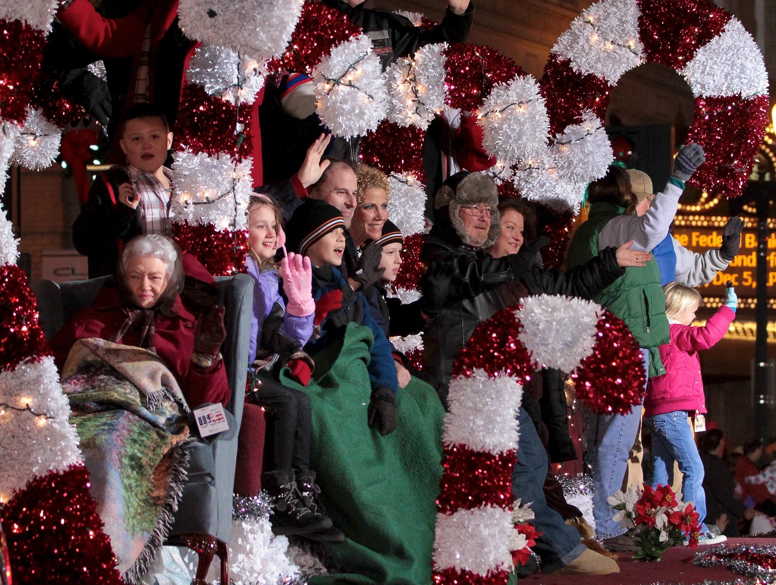 The Fowlers Furniture float is shown during the annual Knoxville Christmas Parade on Friday, December 3, 2010.