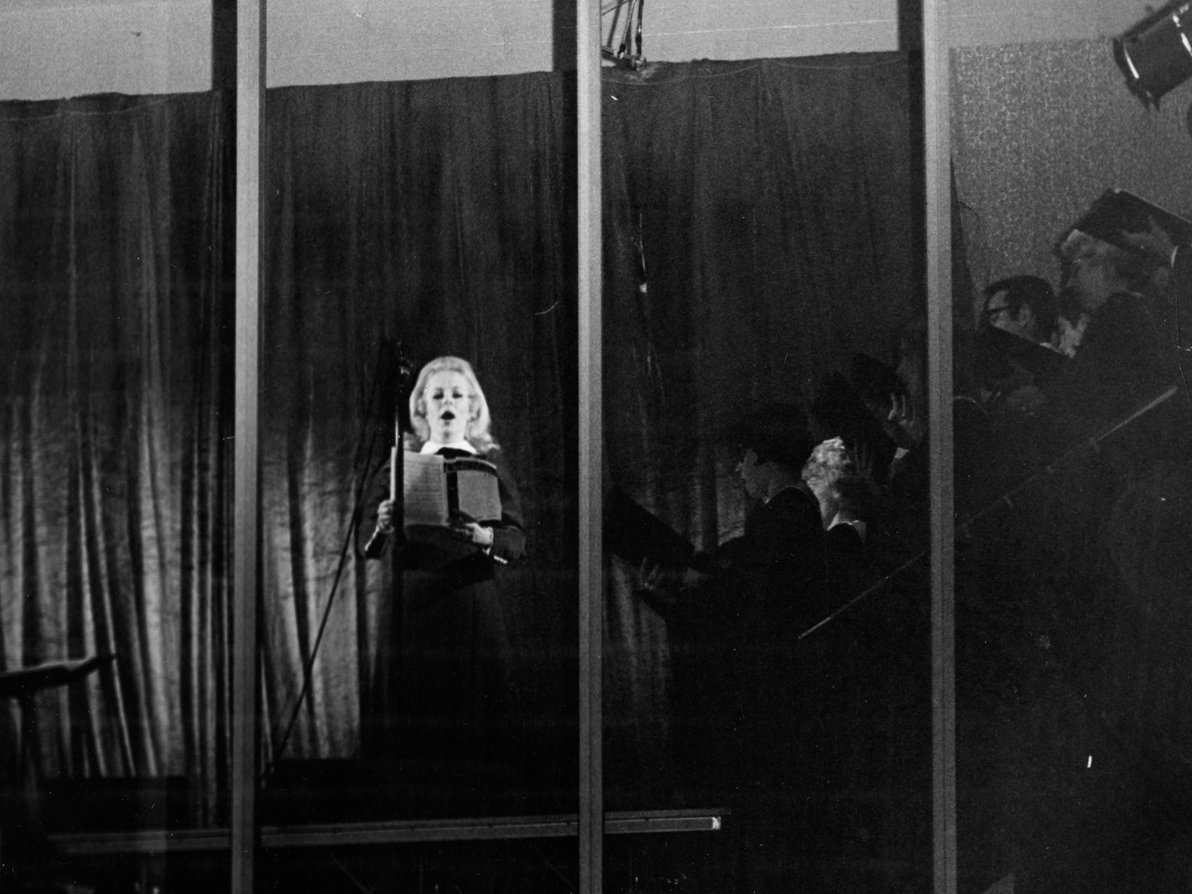Mary Costa performs during the Nativity Pageant on Dec. 22, 1969.