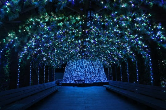 Dollywood's Smoky Mountain Christmas has a new lighted area and now more than five million lights.