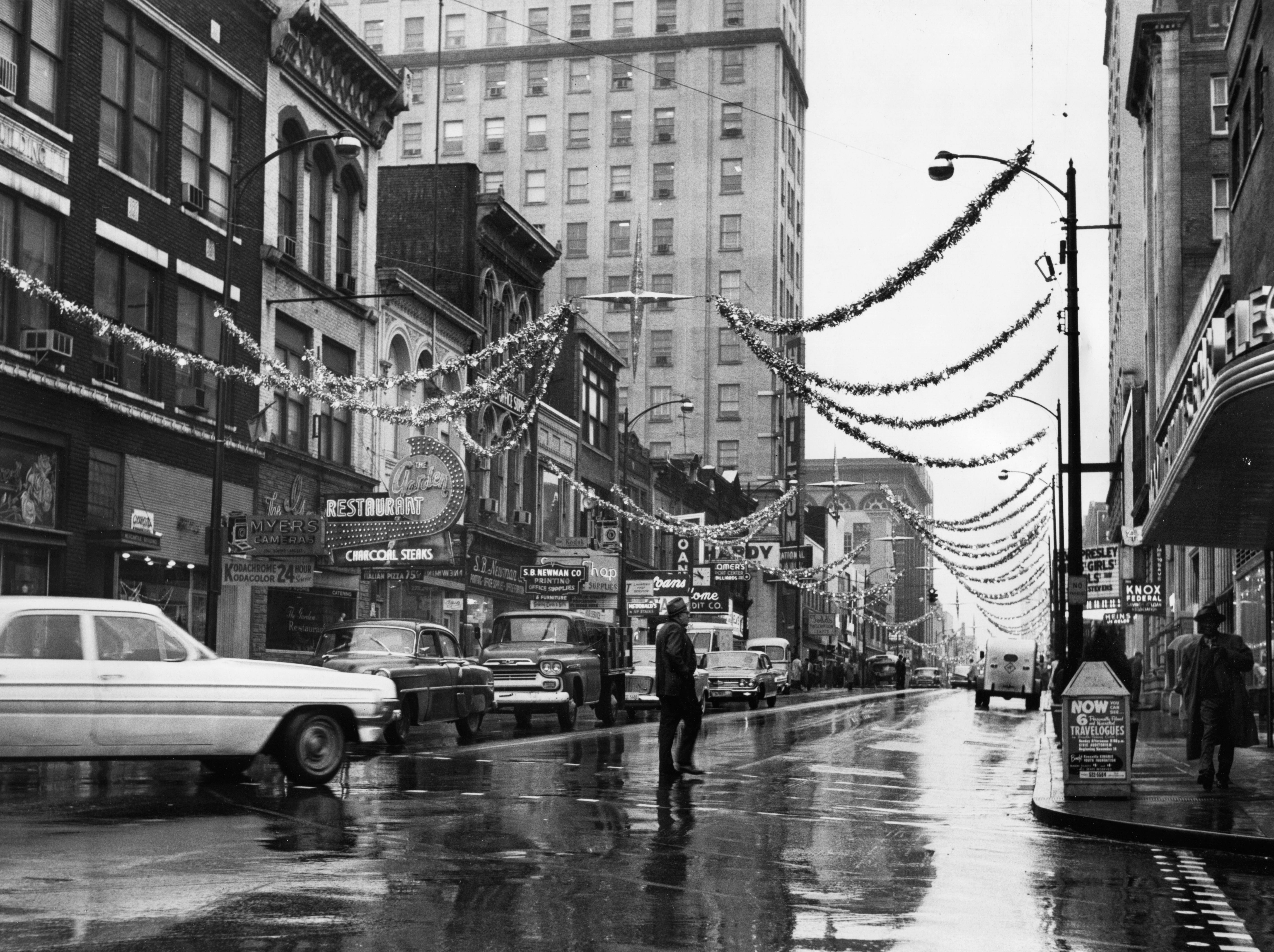 Another view of the Gay Street 'Starlight Stairway' Christmas decorations on Nov. 23, 1962.