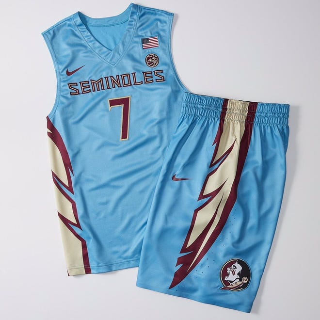 The Florida State men's basketball team's blue jersey