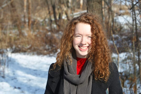 Purdue junior Iris A. O'Donnell Bellisario is pictured at the Celery Bog and Nature Preserve. She is working with Lafayette and West Lafayette community leaders encouraging them to adopt a policy to be carbon neutral by 2050.