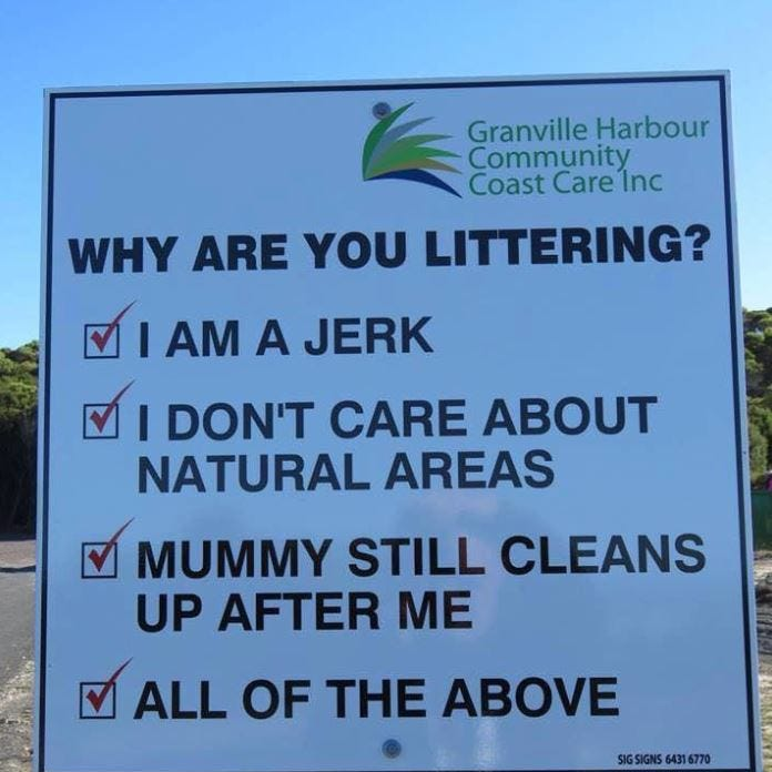 Bangert: A snarky Lafayette anti-littering sign goes viral, again, halfway around the globe