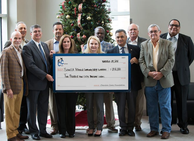 SOWELA officials, Cheniere Energy officials and Local and State Dignitaries were on hand for a special presentation to announce Cheniere Energy's donation of $250,000 to SOWELA.