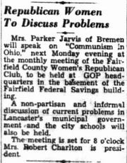 This article ran in the Nov. 14, 1952 Lancaster Eagle-Gazette.