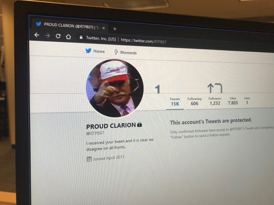 Authorities say the Twitter account Proud Clarion is responsible for tweets that appeared to threaten Trinity High School.