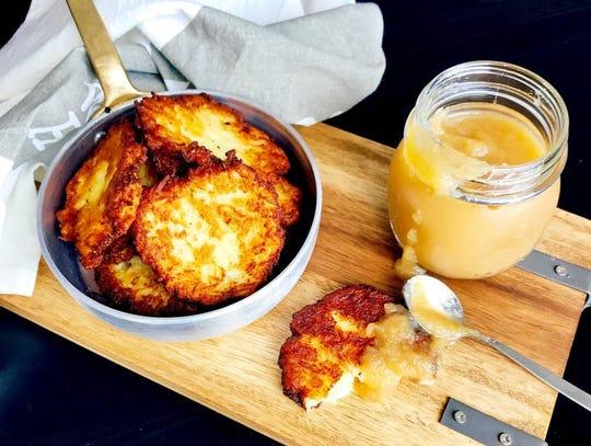 Basic potato latkes by Danielle Renov. Courtesy of kosher.com