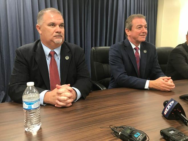 "Rep. John ""Bam"" Carney (left) was elected majority floor leader Thursday. Rep. David Osborne (right) was elected House speaker."