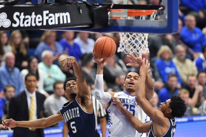 UK F PJ Washington lays the ball up during the University of Kentucky mens basketball game against Monmouth at Rupp Arena in Lexington, Kentucky on Wednesday, November 28, 2018.