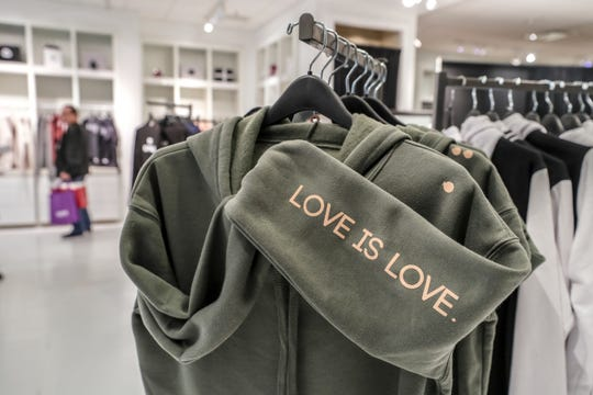 Blofish in Oxmoor Center offers gender neutral clothing with positive messages.November 29, 2018