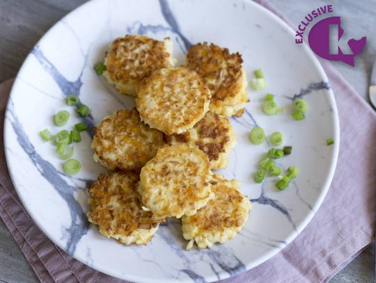 Cheese and cauliflower latkes by Chaia Frishman. Courtesy of Kosher.com