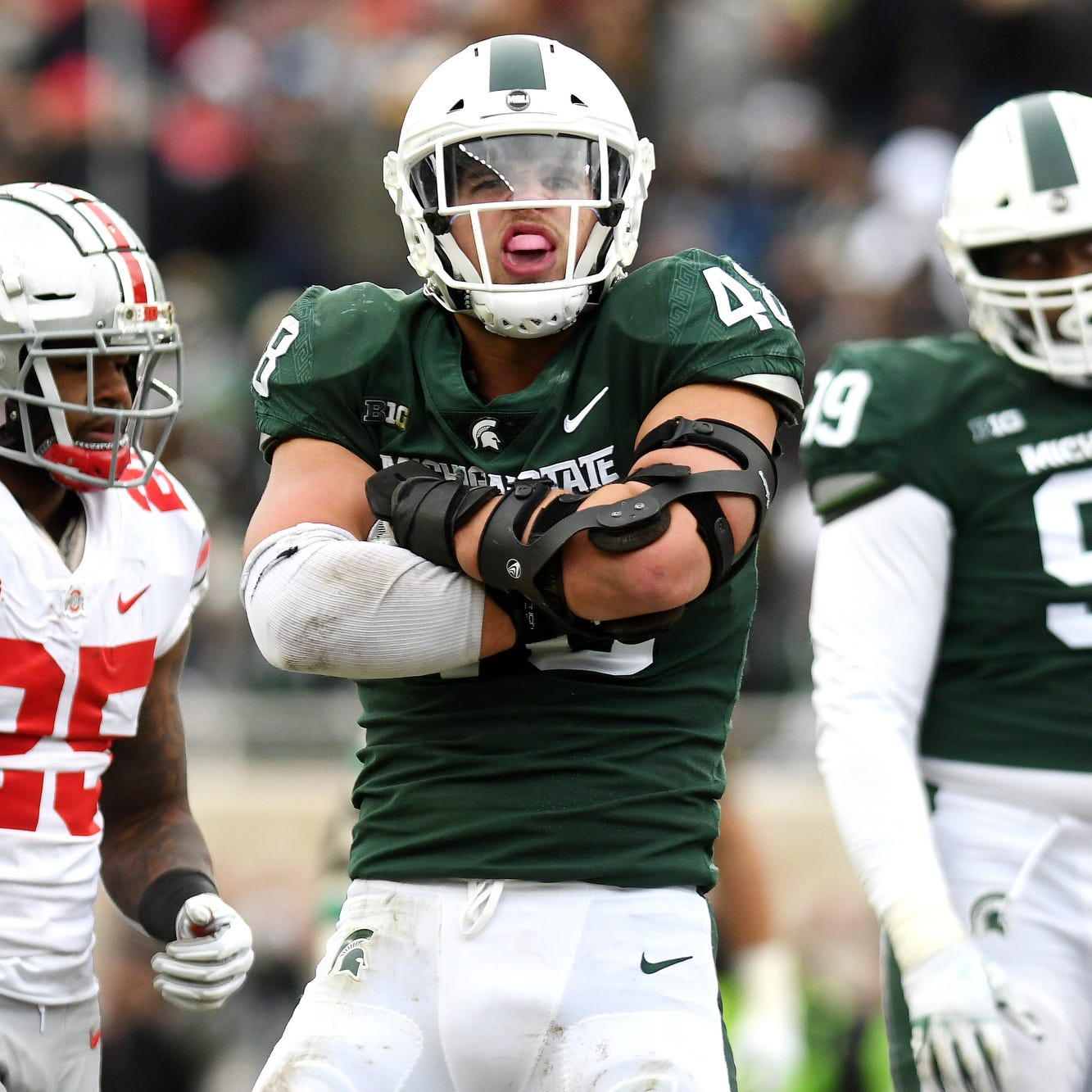 Michigan State's Kenny Willekes updates his recovery from broken leg