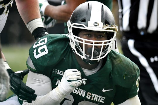 Michigan State's Raequan Williams, a junior, is considered one of the top defensive tackles in the country. The Redbox Bowl on New Year's Eve may end up being his final game as a Spartan. He may leave early for the NFL.