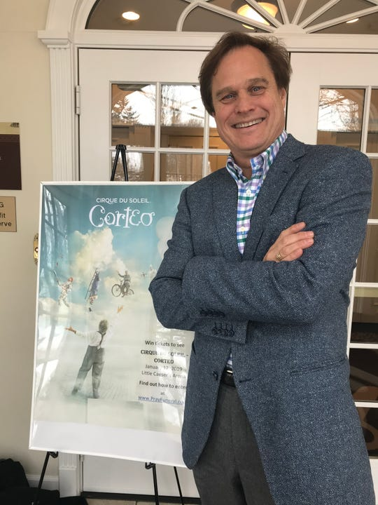 """Joe E. Pray, funeral director at Pray Funeral Home in Charlotte, is using a Cirque du Soleil preformance of """"Corteo,"""" about a funeral of a clown, to spark more imagination on memorial services."""
