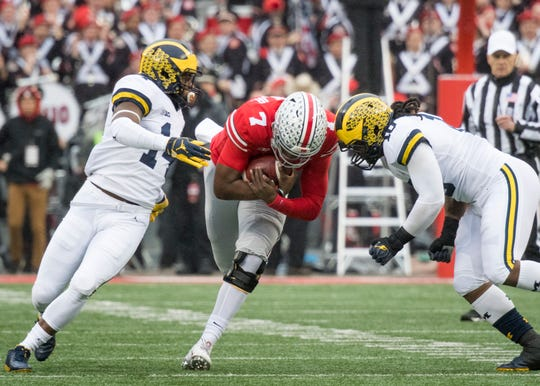 Ohio State quarterback Dwayne Haskins has shown more willingness to run the ball heading into the Big Ten Championship Game.