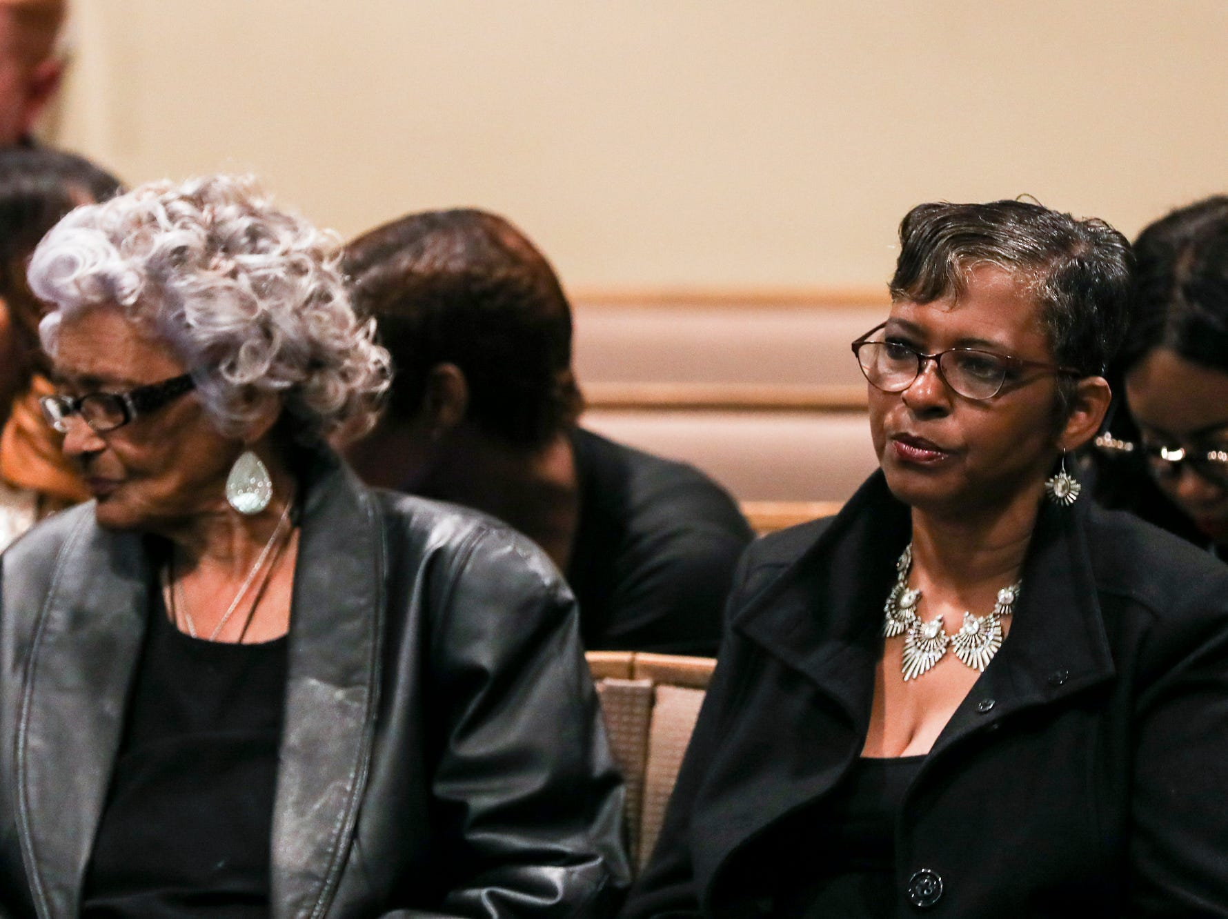 November 29 2018 - Louise Vassar, grandmother of Lorenzen Wright, left, and Deborah Marion, Lorenzen Wright's mother, are seen in Judge Lee Coffee's courtroom on Thursday. A trial date of Sept. 16, 2019 was set on Thursday before Criminal Court Judge Lee Coffee. Sherra Wright and Billy Ray Turner are charged with first-degree murder in Lorenzen Wright's July 2010 shooting death.