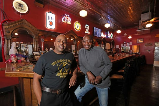 Eric Vernon and his father Frank, owners of The Bar-B-Q Shop on Madison Avenue in Midtown.