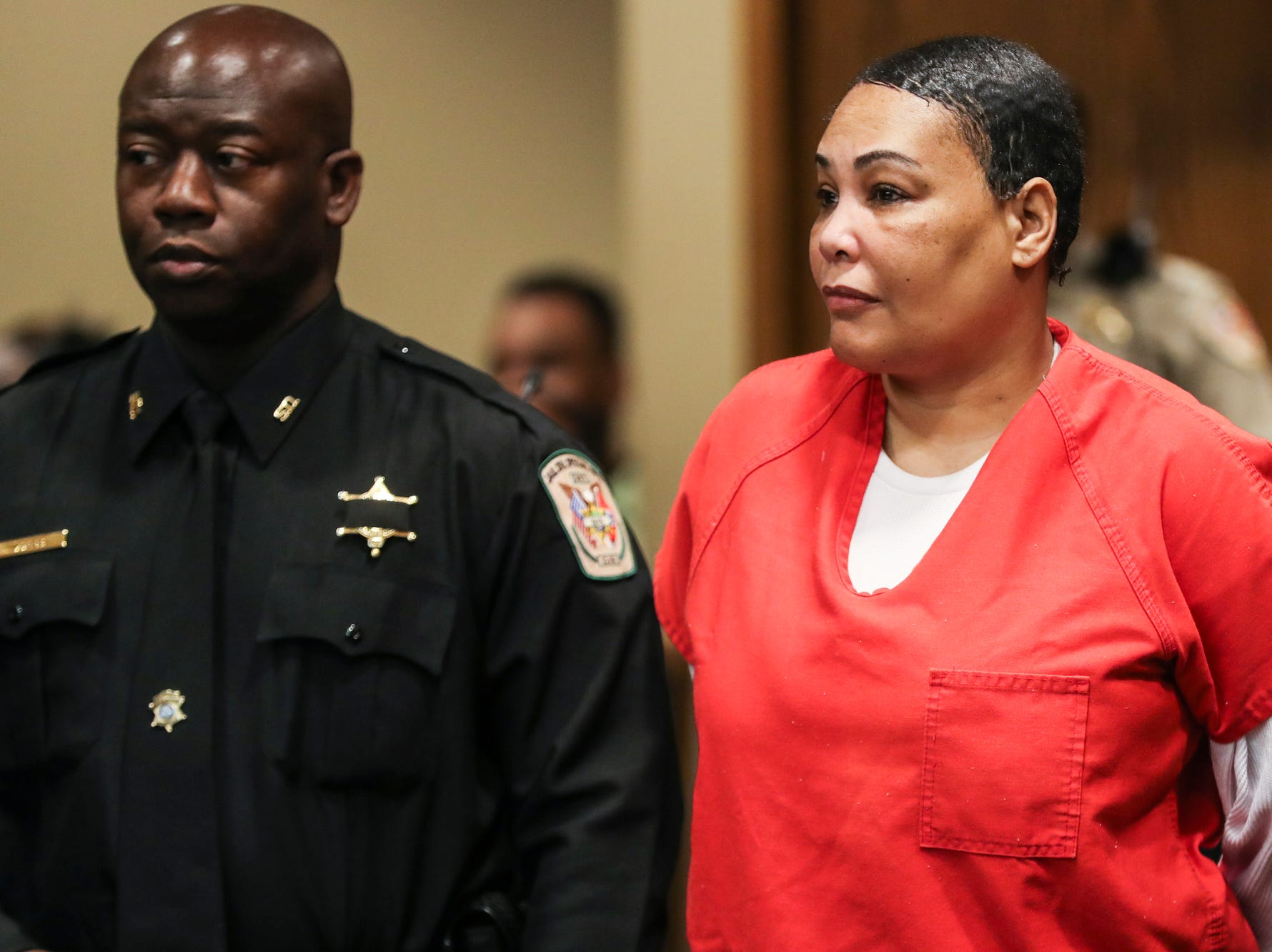 November 29 2018 - Sherra Wright appears in Judge Lee Coffee's courtroom where a trial date of Sept. 16, 2019 was set. Sherra Wright and Billy Ray Turner are charged with first-degree murder in Lorenzen Wright's July 2010 shooting death.