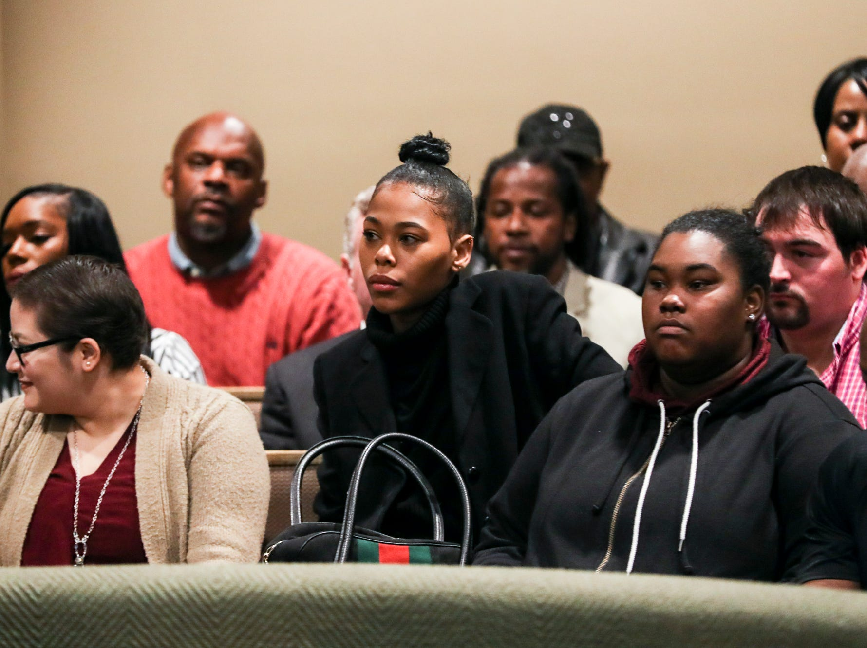 November 29 2018 - Loren Wright, daughter of Lorenzen and Sherra Wright, is seen in the courtroom on Thursday. A trial date of Sept. 16, 2019 was set on Thursday before Criminal Court Judge Lee Coffee. Sherra Wright and Billy Ray Turner are charged with first-degree murder in Lorenzen Wright's July 2010 shooting death.