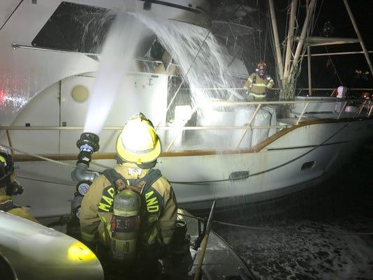 Boat Fire Spray