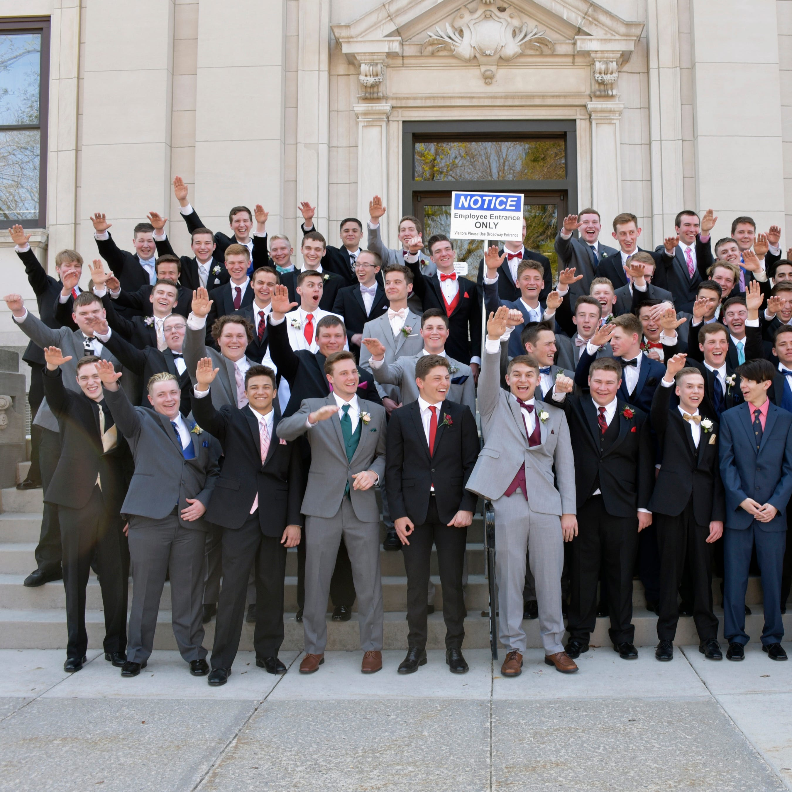 Wisconsin school Nazi salute photo: Free speech vs. punishment | Casey Hoff