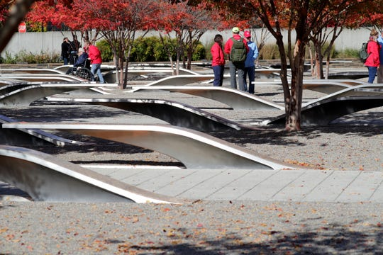 A stop at the Pentagon 9/11 memorial was an unexpected moving moment for De Sisti.