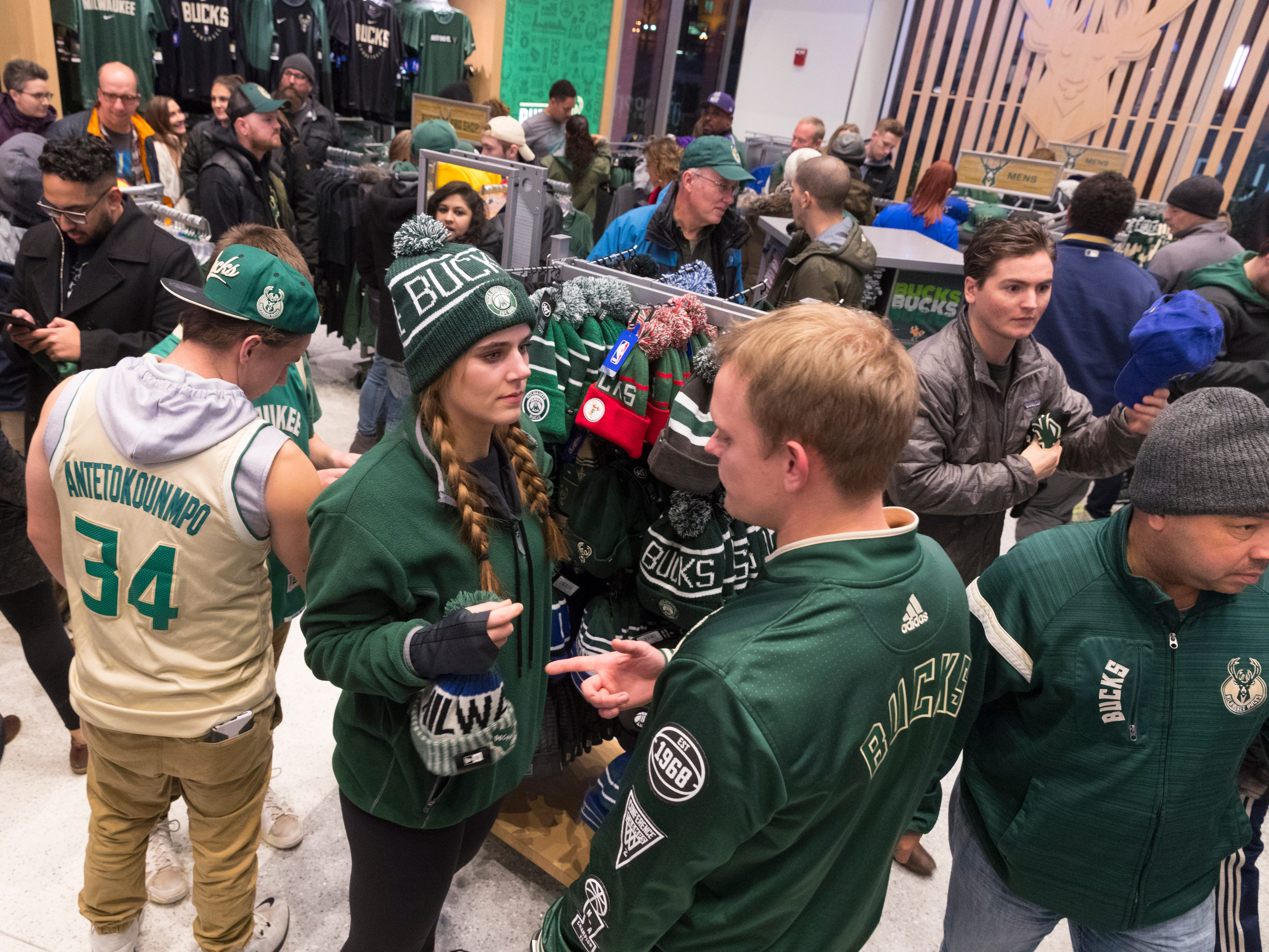 In addition to four Bucks Pro Shops there is an online store and ten more locations that sell Bucks gear.