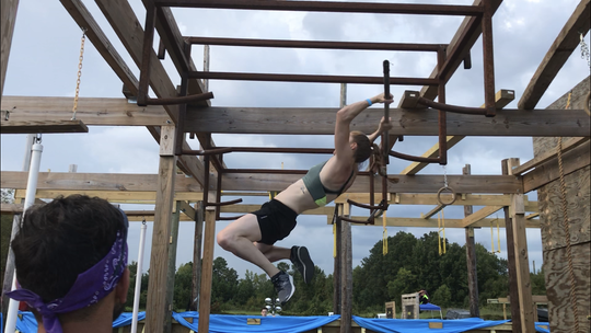 Brittany Holterman at the Ultimate Backyard Warrior competition Sept. 1.