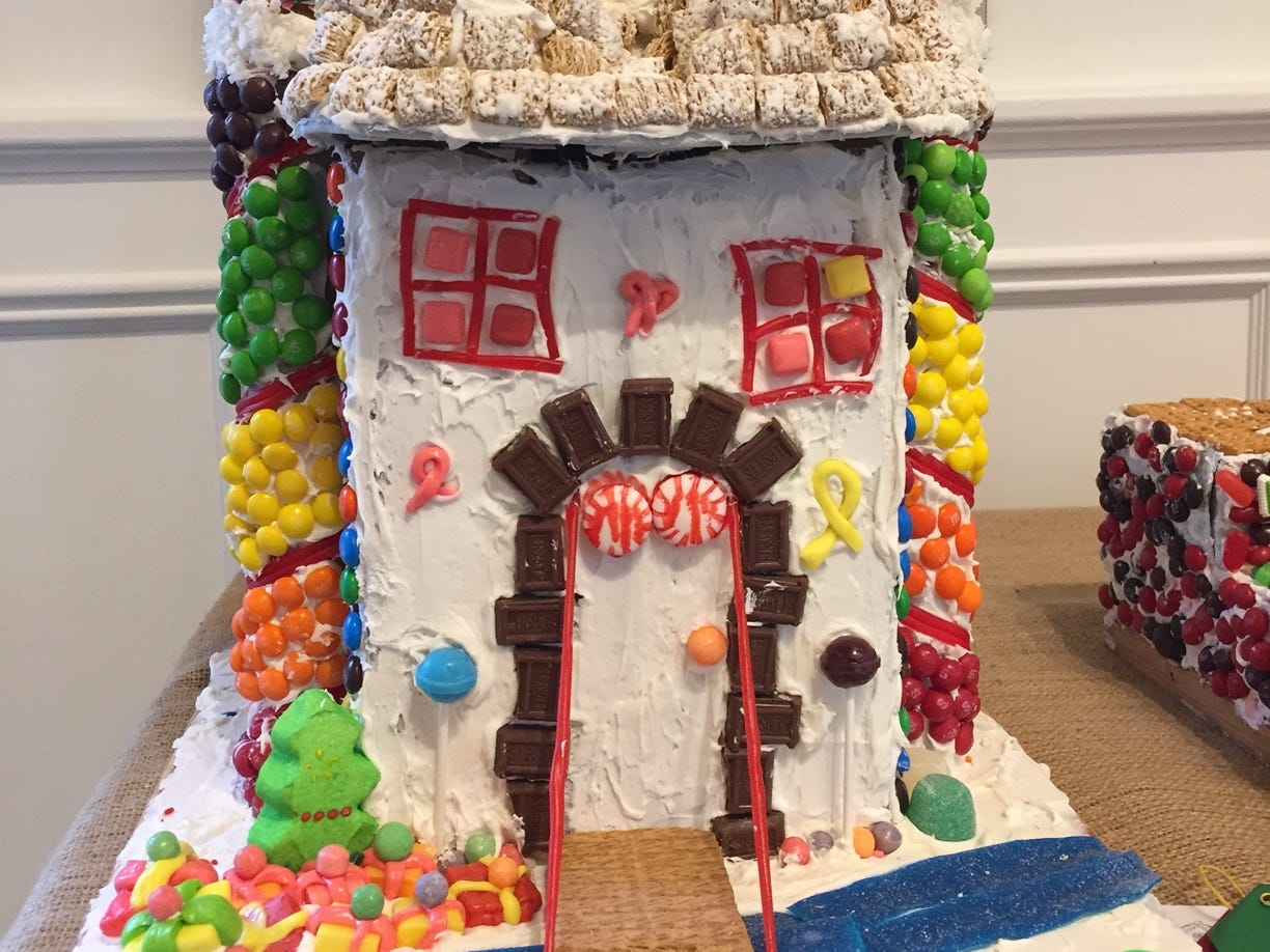 """Castle Wonderland"" by Mrs. Fishelman's K Class, Warren, at the 2018 Gingerbread Wonderland at the Frelinghuysen Arboretum. School category."