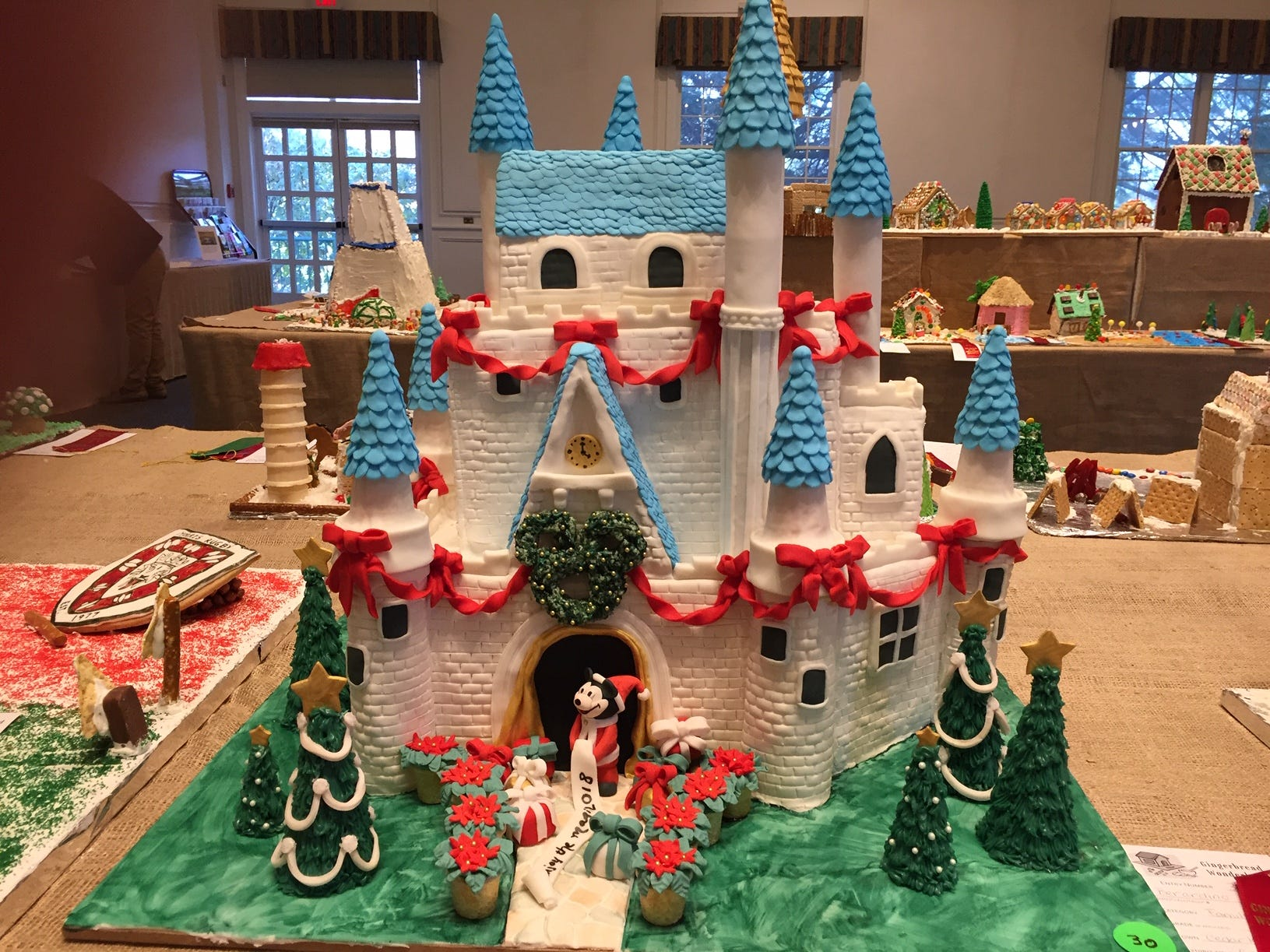 """Enjoy the Magic"" by the Bernardino Family of Cedar Knolls, at the 2018 Gingerbread Wonderland at the Frelinghuysen Arboretum. Family category."