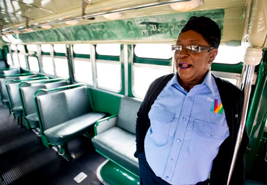 Brenda White with the Cleveland Avenue Bus in Montgomery, Ala., on Thursday November 29, 2018.
