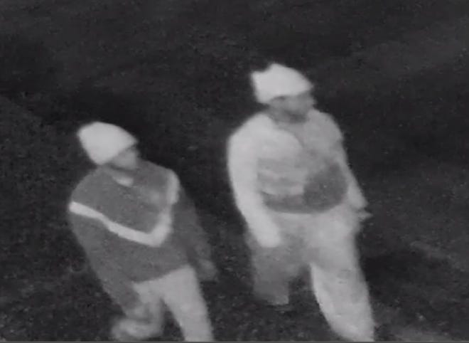 Police are searching for two men in connection to a break-in at a U-Haul facility