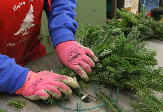 The Wreath Shop at Country Cove Christmas Tree Farm, in Murfreesboro creates wreaths, garland, table centerpieces and more from trees grown at the farm.