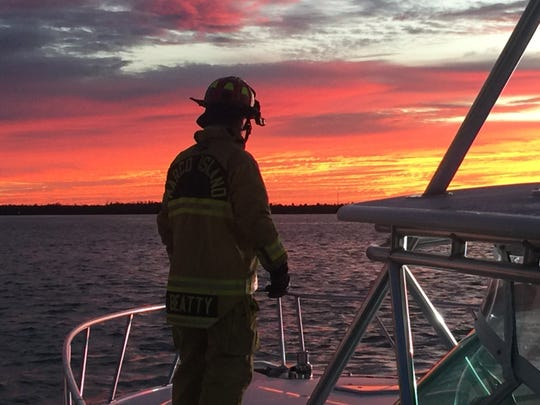 An electrical fire destroyed a yacht at Riverside Marina early Thursday morning, Nov. 29, 2018. The fire did not spread to neighboring boats and no one was hurt.