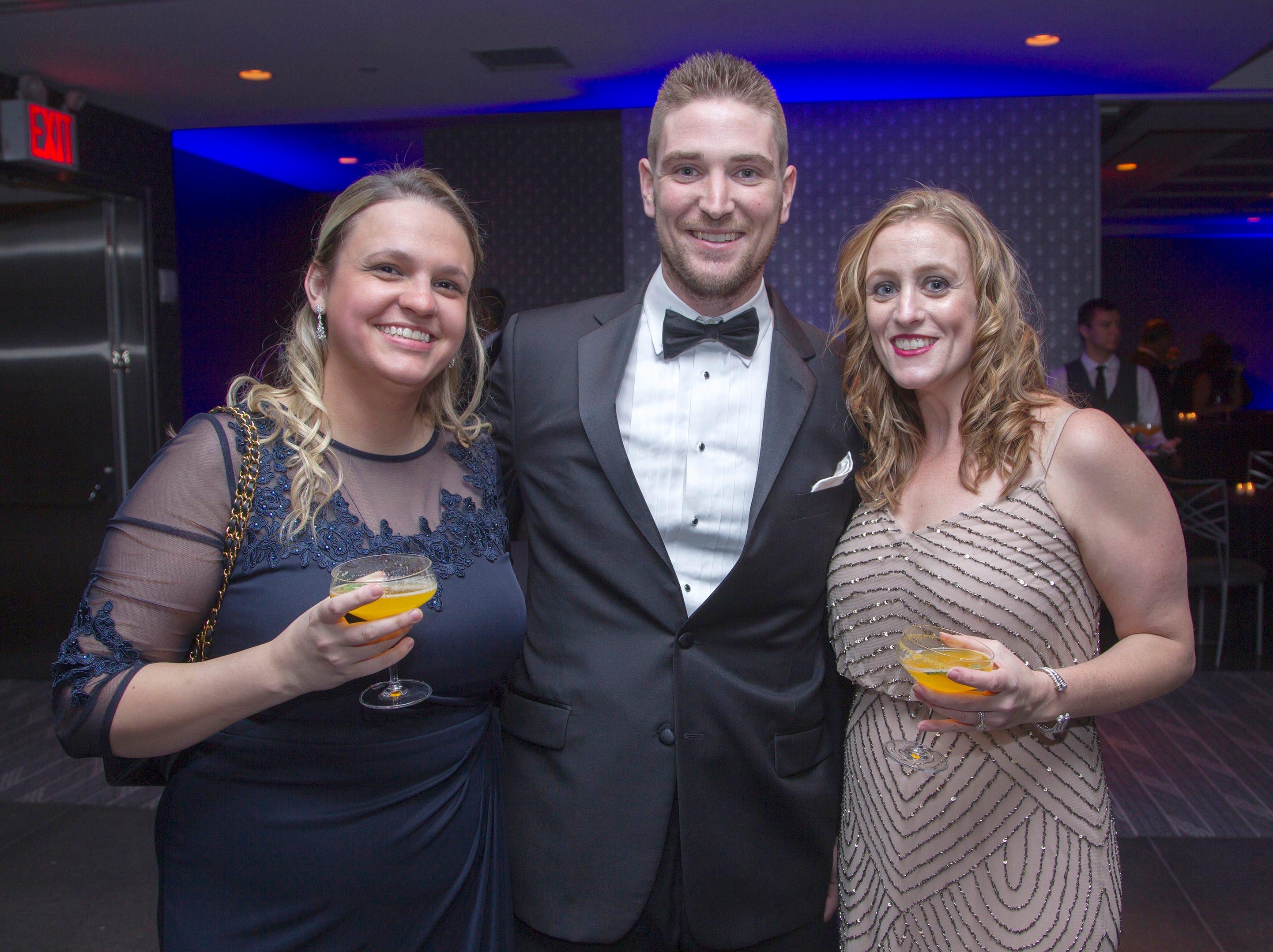 Christie Pfisterer, Eric Pfisterer, Dr. Christine Pfisterer. Holy Name Medical Center held its 2018 Founders Ball in NYC at Ziegfeld Ballroom. 11/17/2018