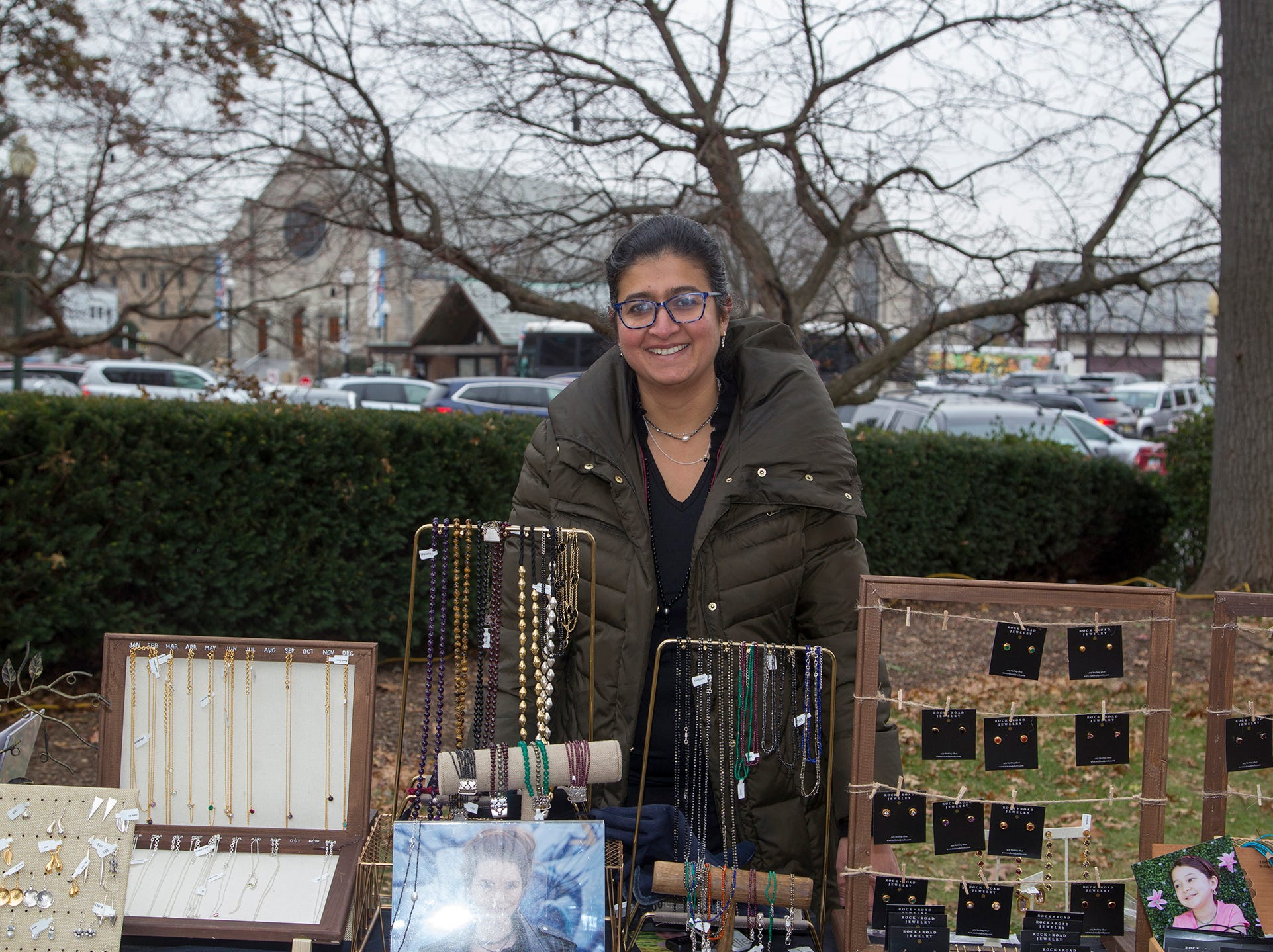 Supriya Kapur of Rock Road Jewlery. The Ridgewood Guild sponsors Winter Fest at Van Neste Park in Ridgewood. 11/24/2018