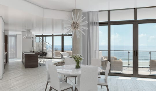 Two- to four-bedroom residences are available at South Beach at Long Branch, the eight-story luxury condos rising on the New Jersey oceanfront.