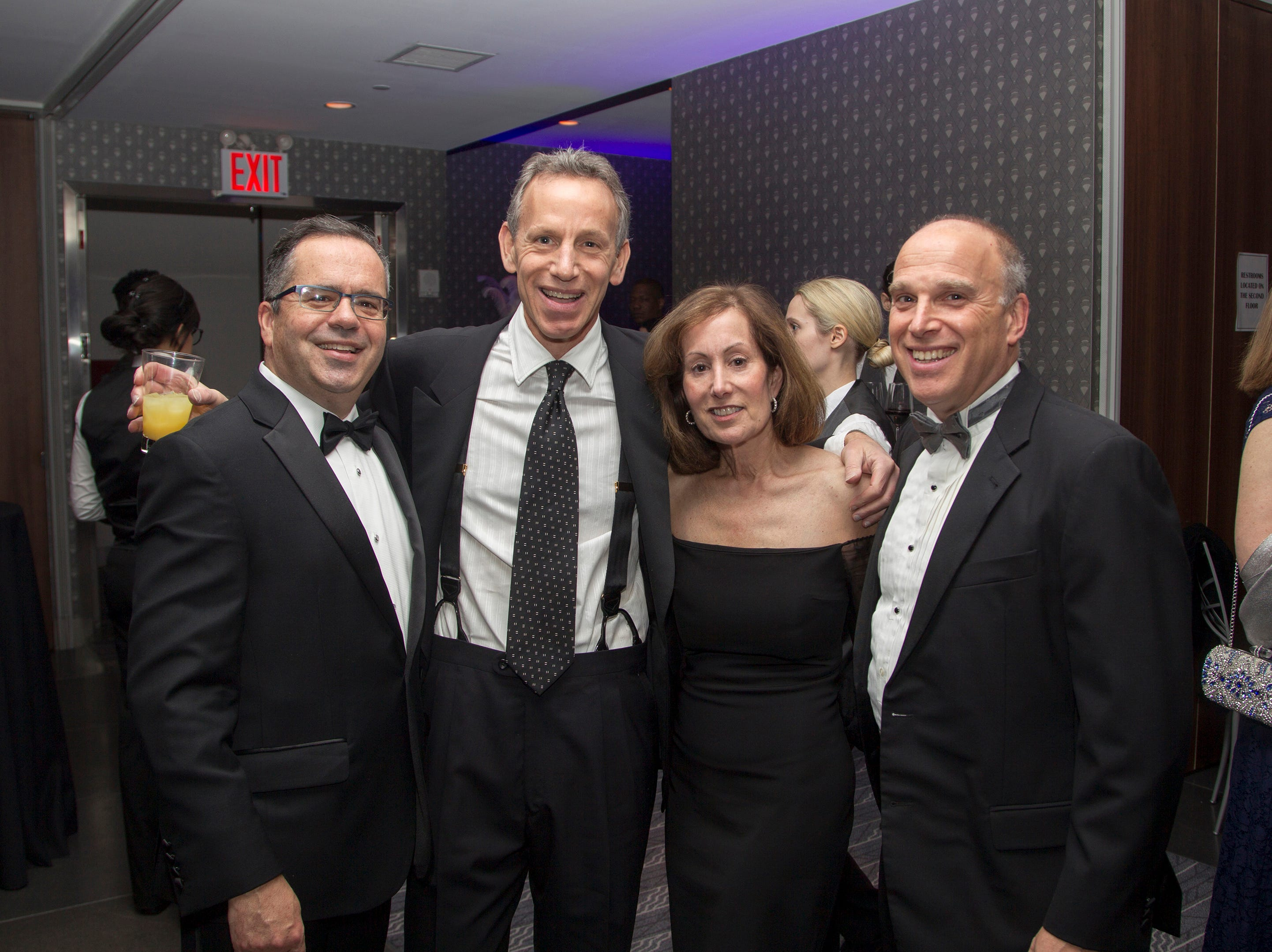 Dr. Phil Micale, Dr. Michael Schmidt, Stacie Schmidt, Dr. Adam Jarrett. Holy Name Medical Center held its 2018 Founders Ball in NYC at Ziegfeld Ballroom. 11/17/2018