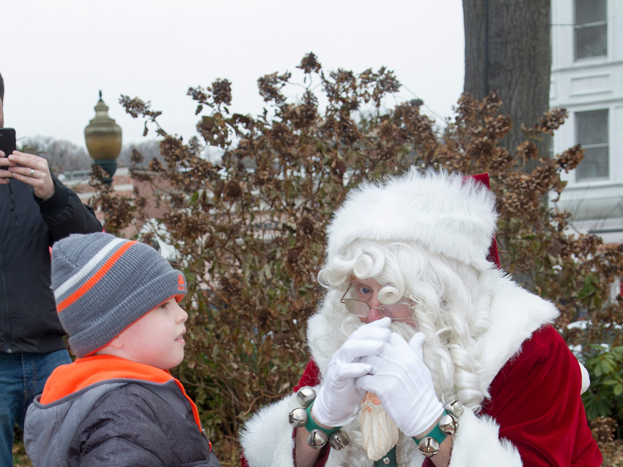 Chris and Santa. The Ridgewood Guild sponsors Winter Fest at Van Neste Park in Ridgewood. 11/24/2018