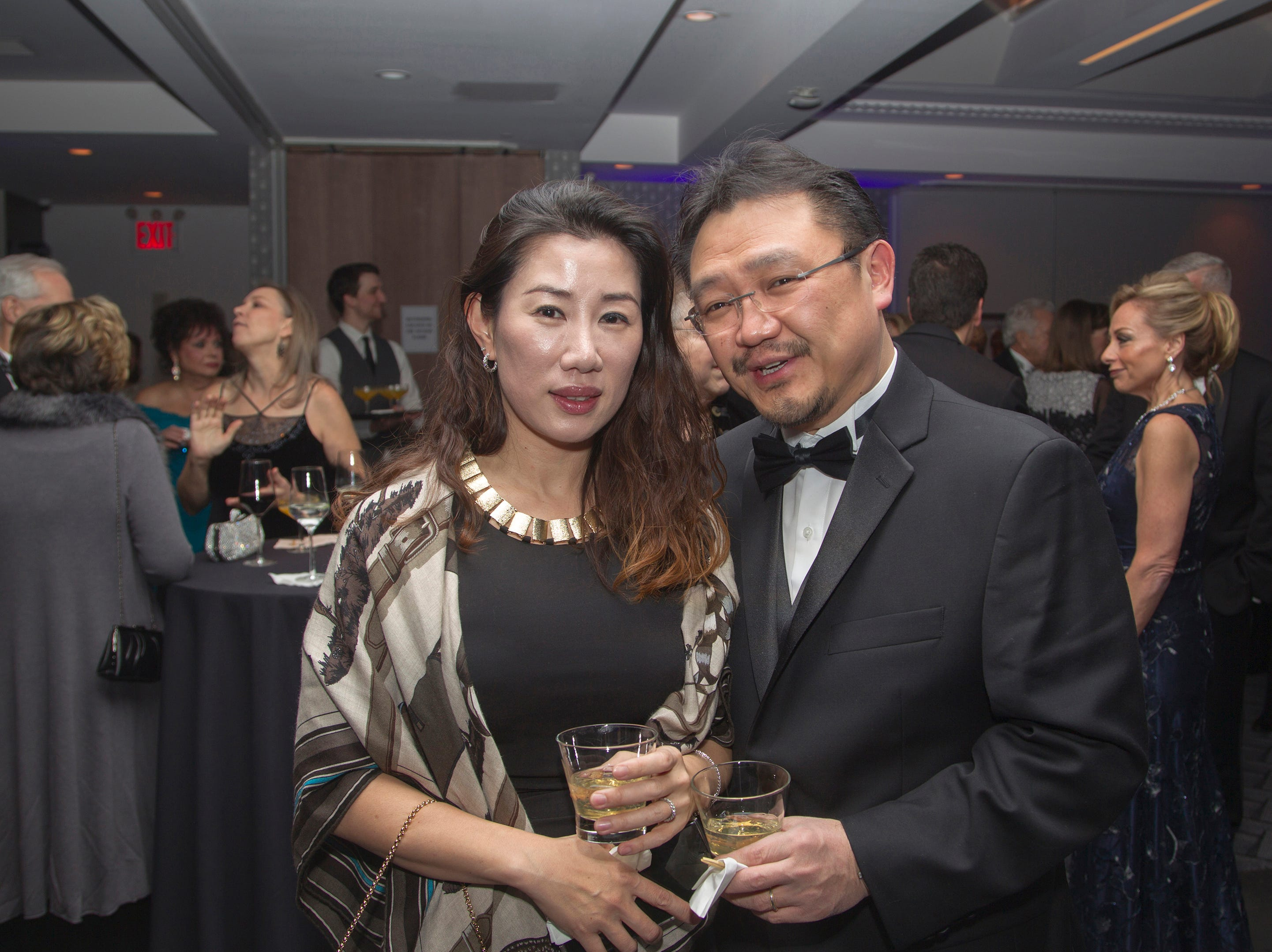 Yun and Dr. Richard Joo. Holy Name Medical Center held its 2018 Founders Ball in NYC at Ziegfeld Ballroom. 11/17/2018
