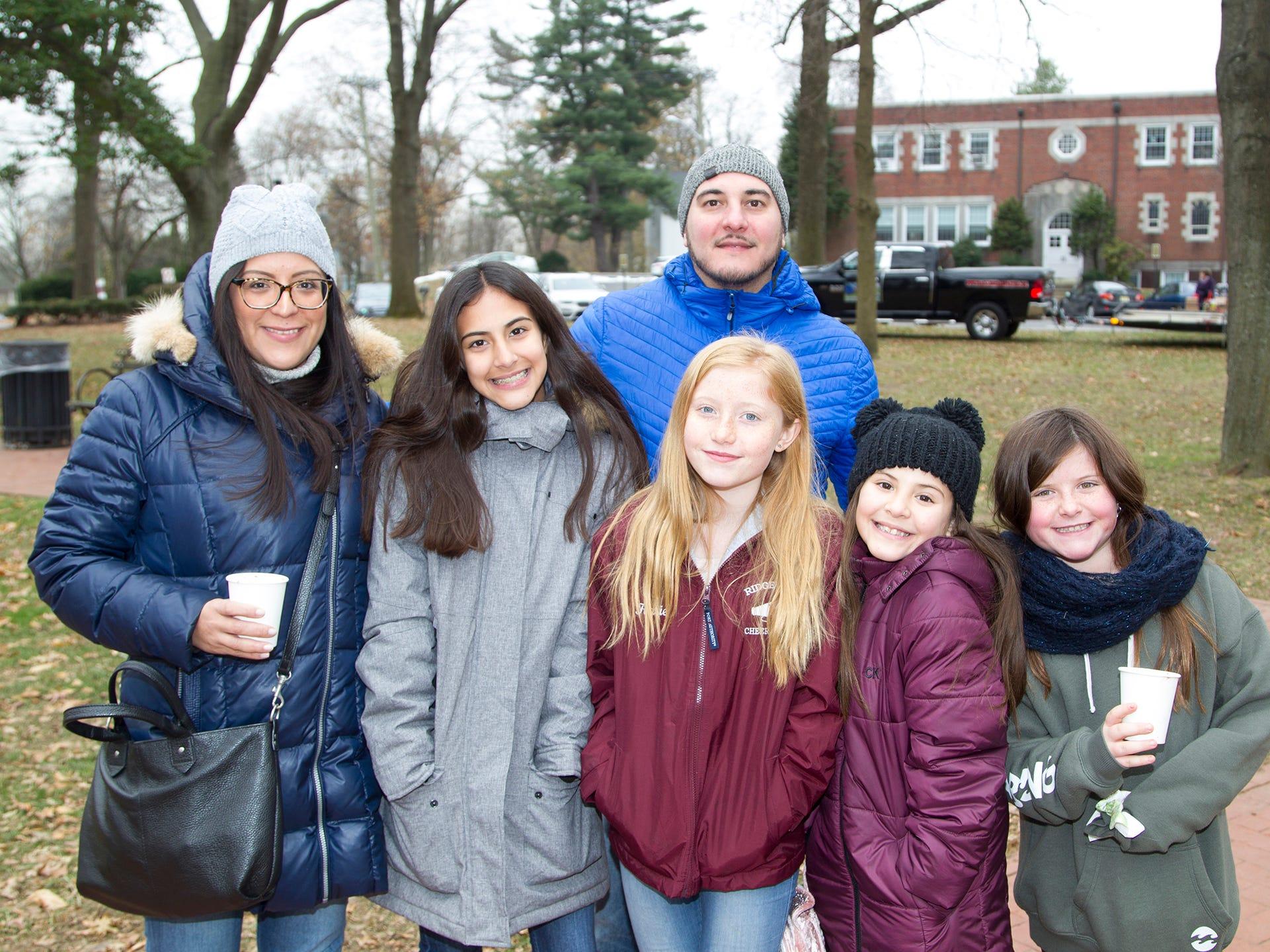 Chantell Gerena, Kylle Gerena, Jorge Gerna, Katie Lewis, Kyria Gerena, Anne Lewis. The Ridgewood Guild sponsors Winter Fest at Van Neste Park in Ridgewood. 11/24/2018
