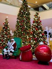 This year's Santa display at Rockaway Townsquare mall.
