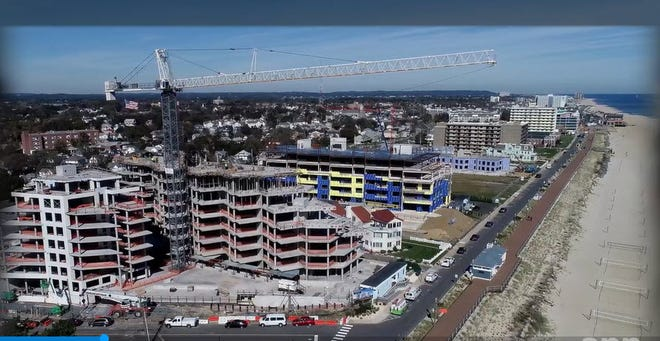 South Beach at Long Branch is rising on the New Jersey oceanfront.